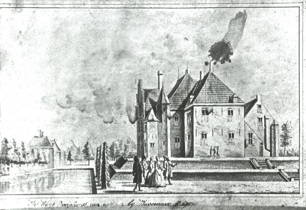 Kasteel Raaphorst in Wassenaar. Tekening Abraham de Haen